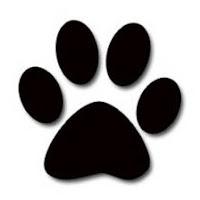 huella de pata de perro