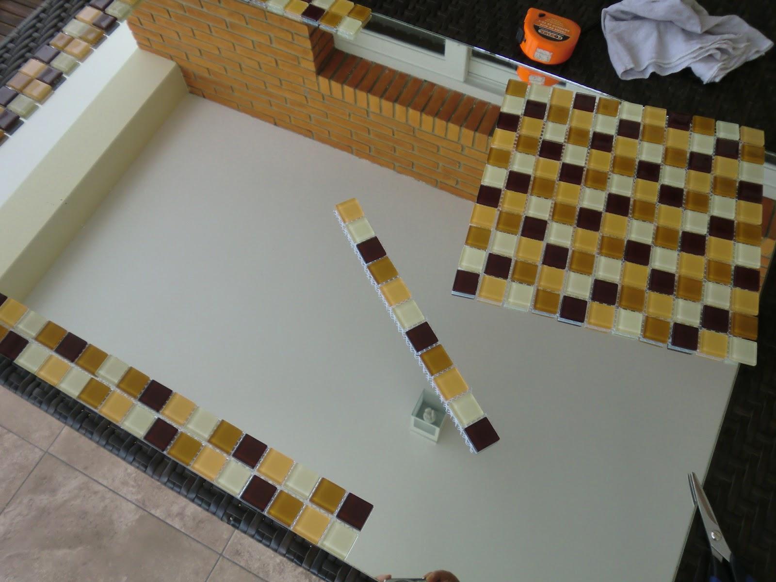 Passo a passo do Espelho Decorado com Pastilha de Vidro Casa e  #6A4618 1600x1200