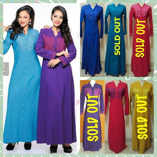 AISYA BUTTON & DAMIA DRESS-2PCS LEFT!!