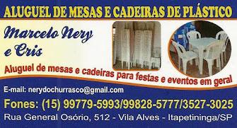 ALUGUEL DE MESAS E CADEIRAS DE PLÁSTICO Aluguel de mesas e cadeiras para festas e eventos em gera