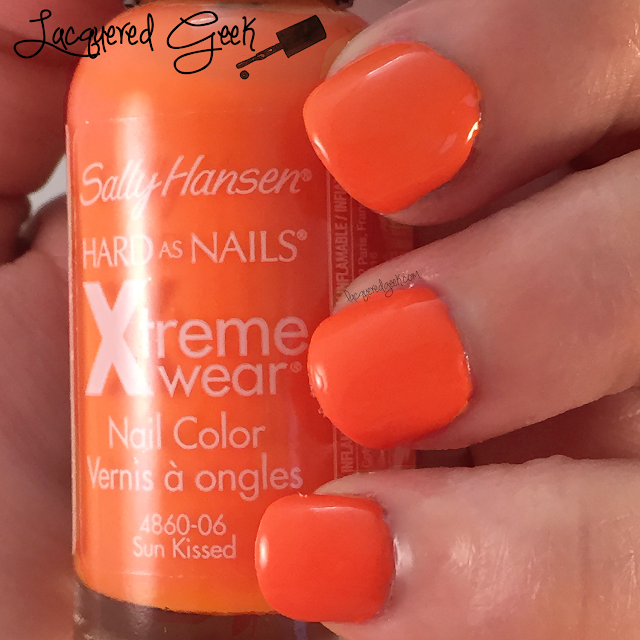 Sally Hansen Sun Kissed nail polish swatch by Lacquered Geek