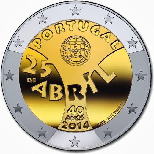 2 euro Portugal 2014, Carnation Revolution