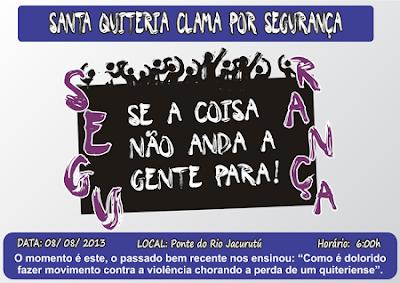 Santa Quitéria clama por segurança - Por Carlos Moreira / Ipueiras