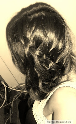 Hairstyles: Bohemian French Braid with  Waterfall Braid Bangs