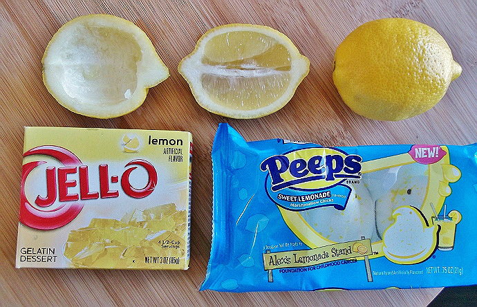 Lemon Jello Slices