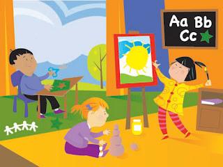 Classroom cartoon image