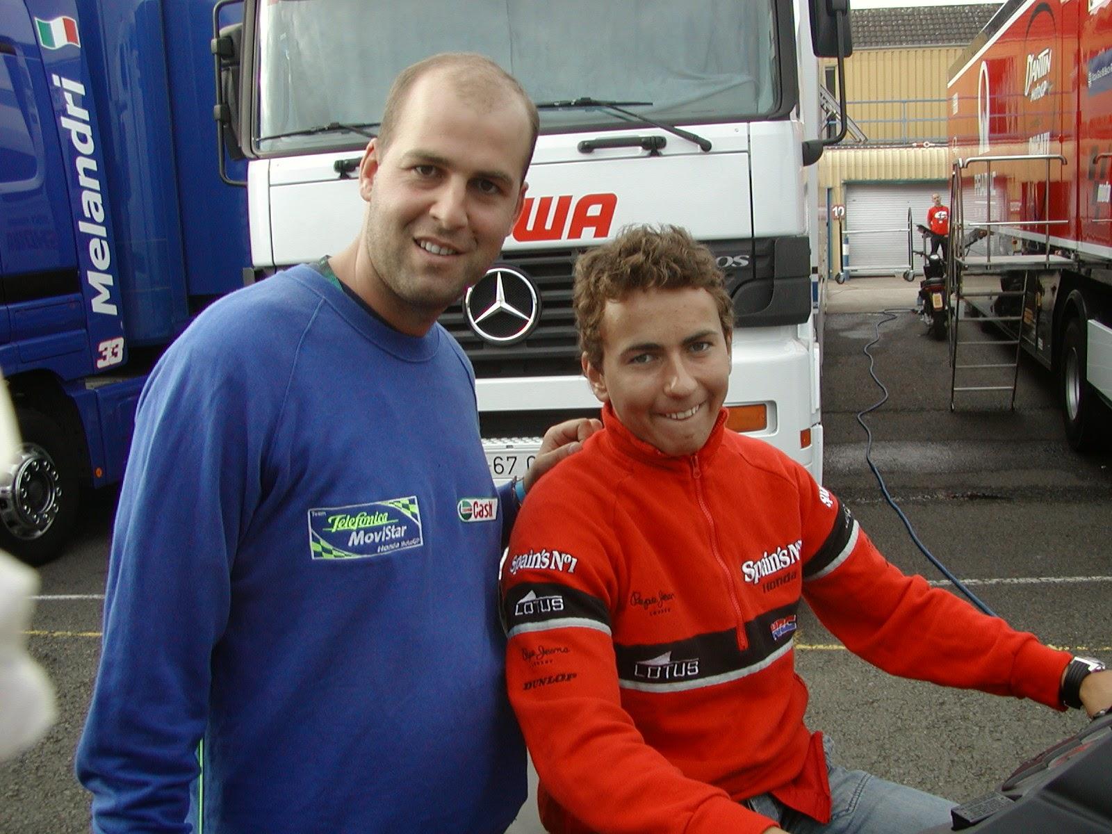 Jorge Lorenzo en el circuito de Donington Park