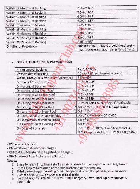 altus flats in Mullanpur Payment Plan2