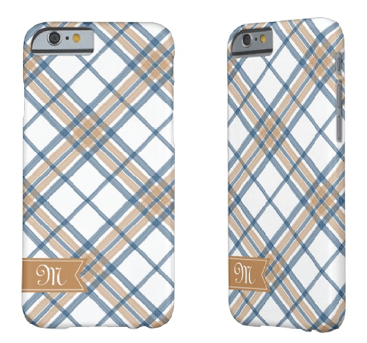 http://www.zazzle.com/navy_blue_and_caramel_plaid_monogram_iphone_6-256205318208813119?rf=238845468403532898