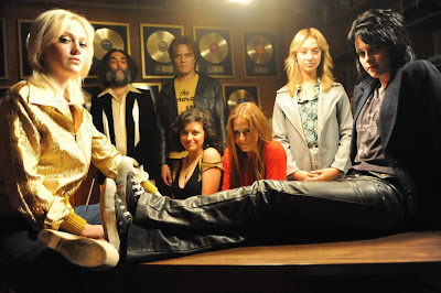 Kristen Stewart and Dakota Fanning star as Joan Jett and Cherie Currie in The Runaways