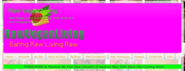 raw vegan living homepage