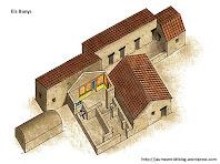 Aproximació gràfica als banys de la Vil·la romana de l'Espelt. Autor: Jaume Enrich