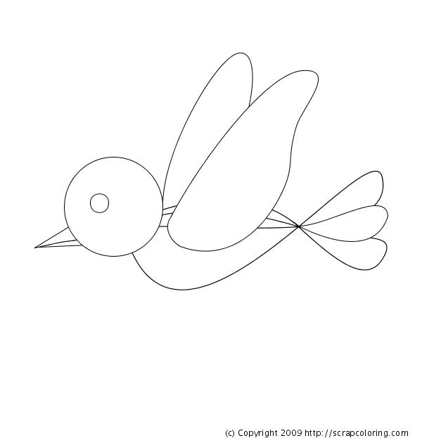 Fazendo a minha festa para colorir passarinhos fofinhos - Dessin oiseau qui vole facile ...