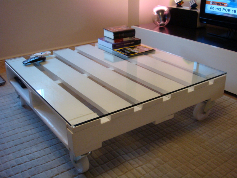 Decora tu vida diy decoraci n con pales hoy mesas - Mesas de palets ...