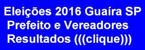 Resultados Eleições Guaíra SP 2016