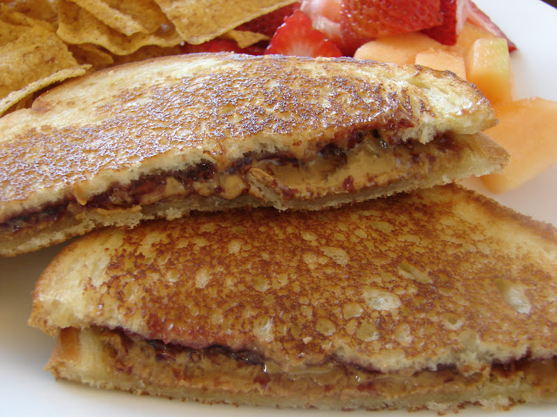 Grilled Peanut Butter And Jelly Sandwich Grilled peanut butter and
