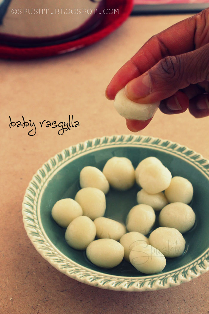 Spusht | Small Rasgulla Balls: Chhena Balls Soaked in Sweet Syrup