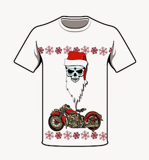 Christmas Biker Shirt