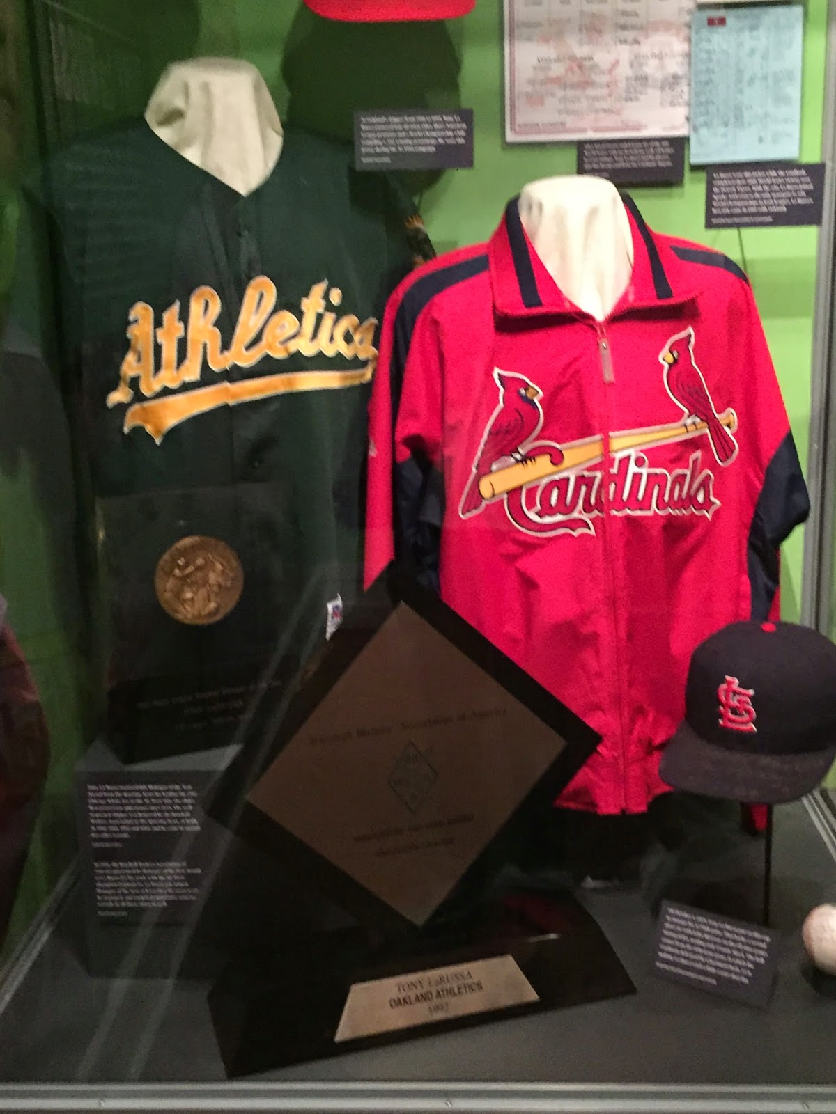 Tony LaRussa Hall of Fame DIsplay