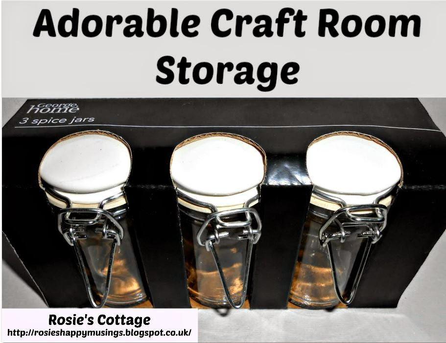 Spice Jars Used As Craft Storage