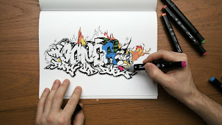 Grafitty Drawing Hand Free HD Wallpaper