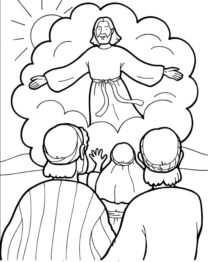 Gambar Tuhan Yesus naik ke sorga: