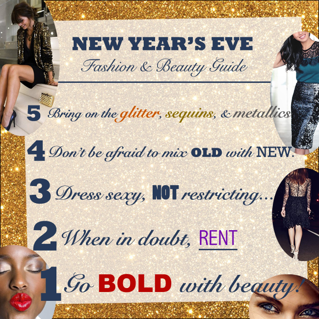 New Year's Eve Outfit, Style, & Beauty Guide
