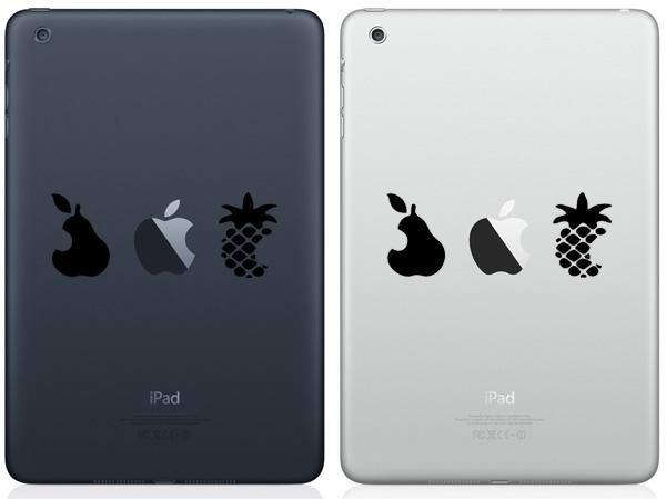 Pear, Apple & Pineapple iPad Mini Decals