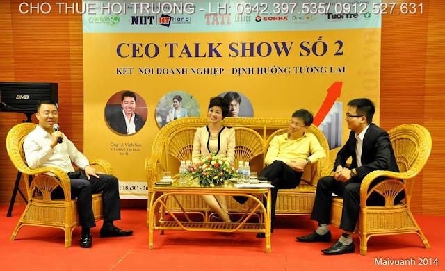 hoi truong to chuc chuong trinh ceo talk show