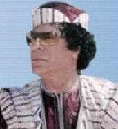 القذافي يتحدث