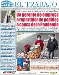 07/07/2020      CHILE  UNA  PRIMERA PÁGINA DE LA PRENSA