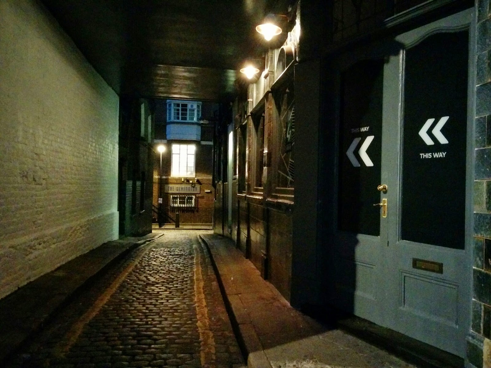 Passage through to the Generator Hostel London