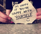 I'm happy if you're happy with yourself.