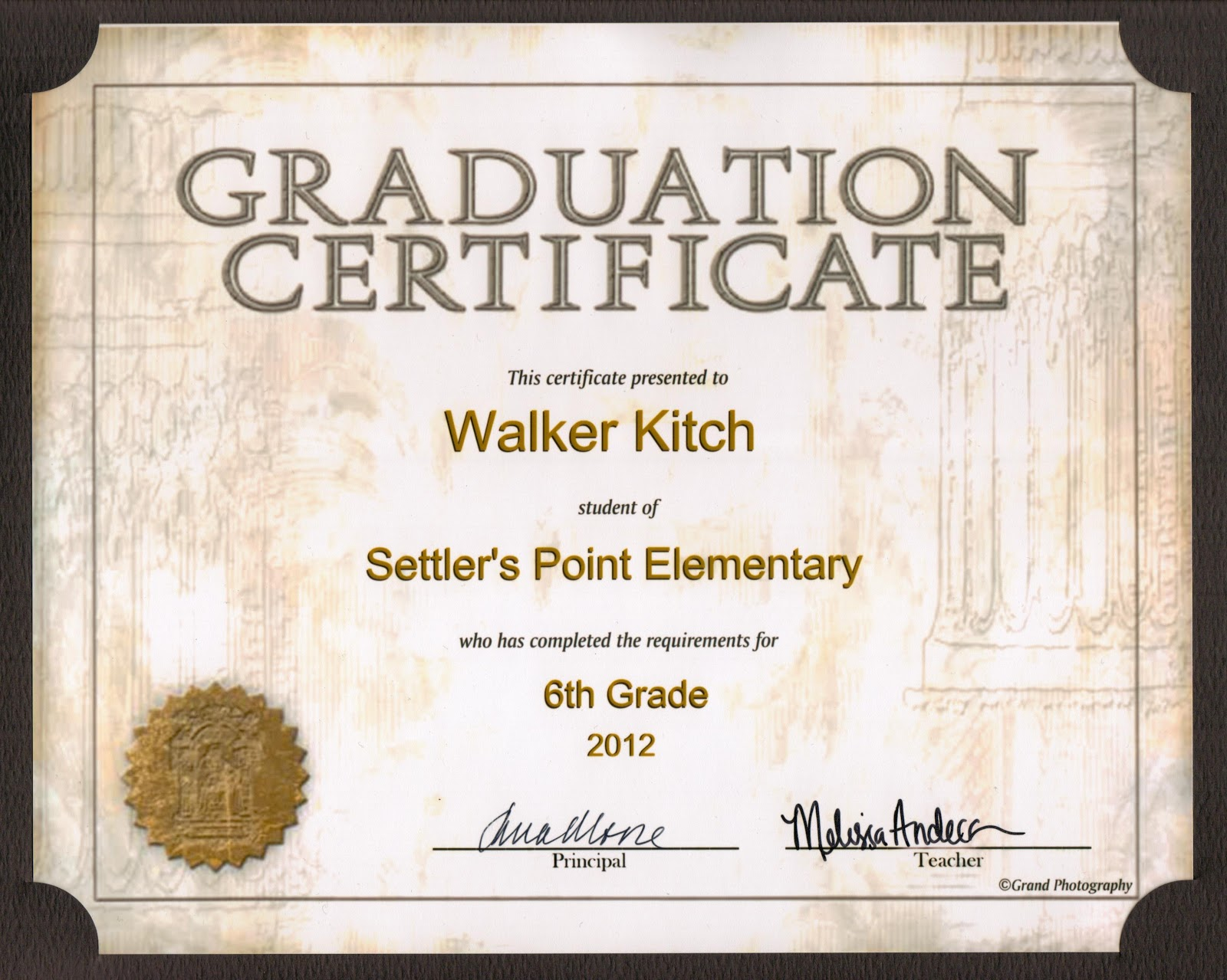 kandid memories walker 39 s 6th grade graduation. Black Bedroom Furniture Sets. Home Design Ideas