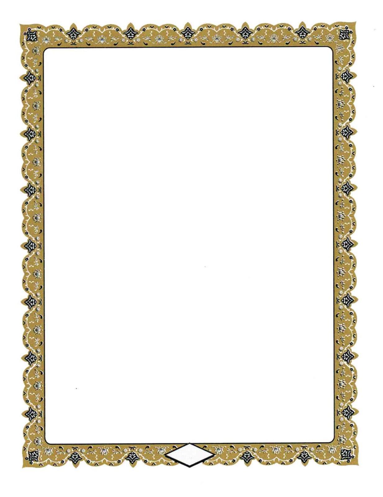 gambar kumpulan bingkai sertifikat format cdr oman air hd