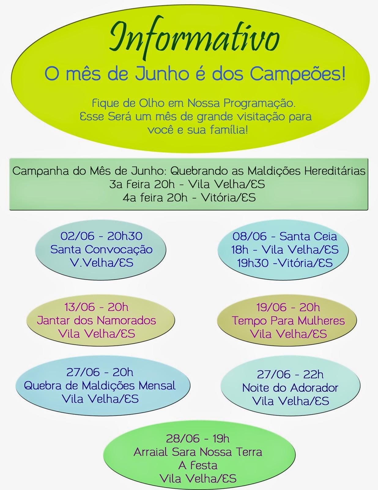 Agenda Geral  de Junho 2014