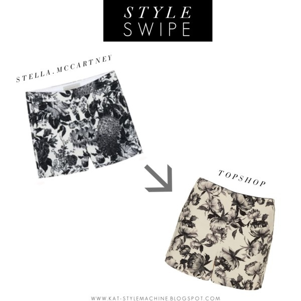 black and white floral shorts, runway budget style