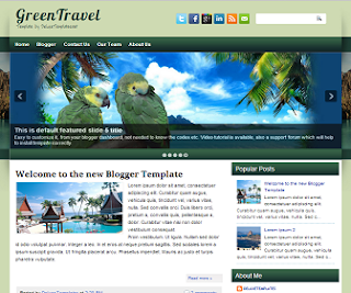 GreenTravel+Blogger+Template