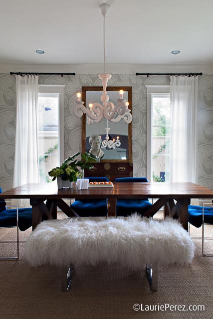 Blue Velvet Dining Room Chairs