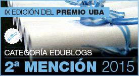 Mención premio UBA - Edublogs