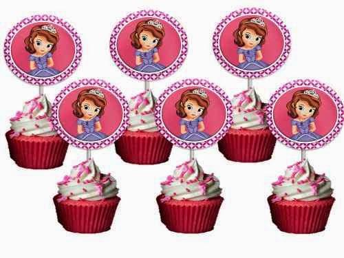 Cupcakes Princesa Sofia, parte 1