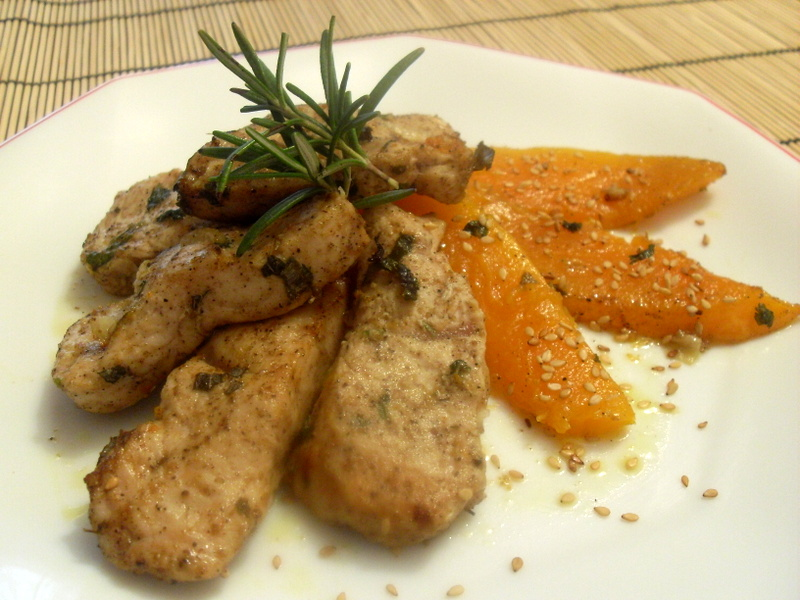 Paprika en la cocina pechuga de pavo con calabaza for Cocina 5 ingredientes jamie