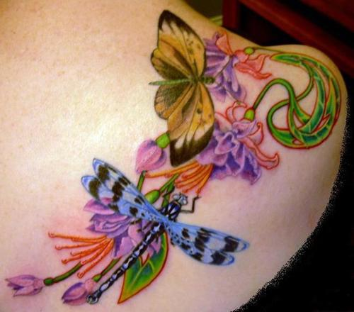 hairstyles popular 2012: Colorful Tattoos Wallpapers