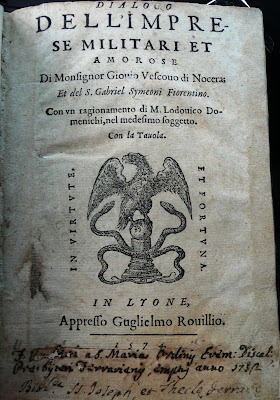 Paolo Giovio, le chroniqueur des Peoples (1574) dans Autographes, lettres, manuscrits, calligraphies