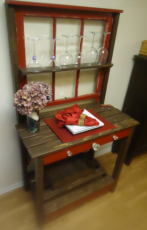 1920s Window Table with Vintage Glass Hardware-SOLD