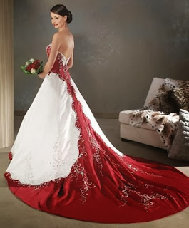 White & Red Christmas Wedding Dresses Ideas 2015