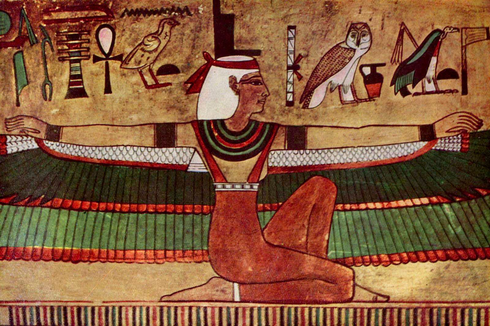 A classic a day isis and osiris for Ancient egyptian mural paintings