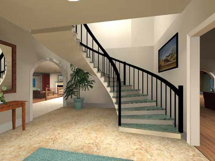 New home designs latest.: Luxury Home Interiors stairs designs ideas.