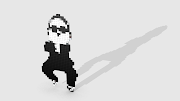 Gangnam Style 3D Pixel Art.