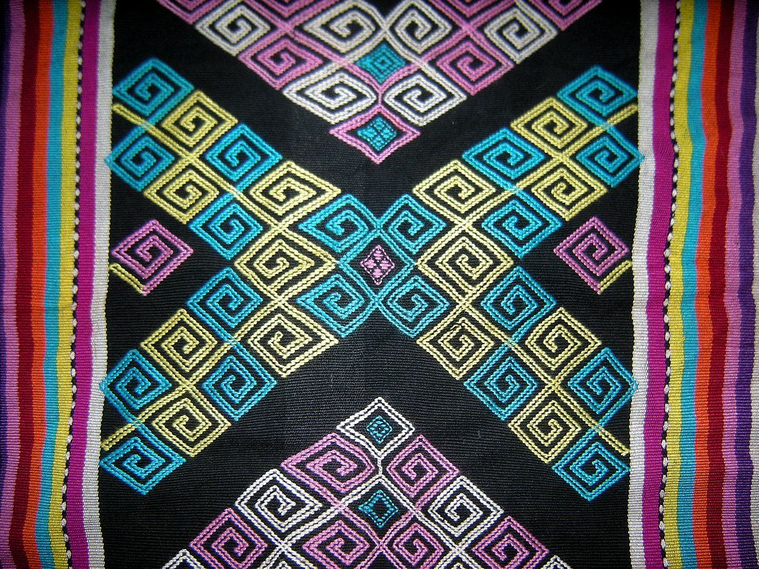 Hmong Miao Hill Tribe Northern Thailand Textile Fabric